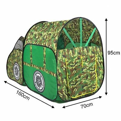 Large 1.6m Kids Camouflage Army Truck Car Play Tent Wendy House Den STJ156872