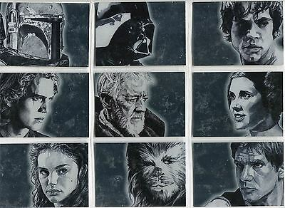 Star Wars Galaxy 4 Complete Silver Foil Chase Card Set 1-15