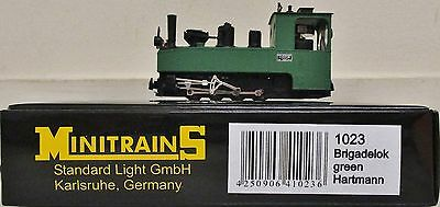 Minitrains 1023 - German Trench Train Brigadelok Loco. (009/HOe Narrow Gauge)