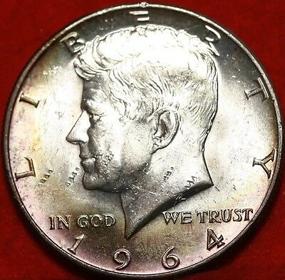 1964 Kennedy Half Dollar 90% Silver, Toned