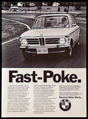 Vintage 1973 BMW Car Auto Magazine Ad 2002 tii Sports Sedan Model