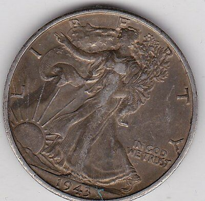 Usa 1943S Silver Half Dollar In Good Fine Or Better Condition