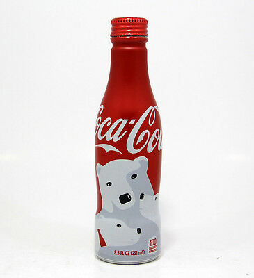 Coca Cola Coke Alu aluminum bottle Polar bear Christmas USA 2016 empty gift