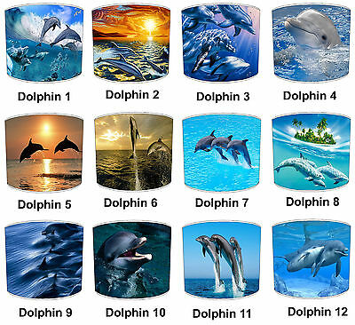 Dolphin Designs Lampshades Ideal To Match Children`s Dolphin Quilts & Bedspreads