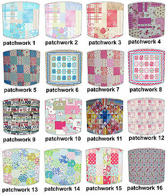 Patchwork Design Lampshades Ideal To Match Patchwork Duvets & Patchwork Cushions