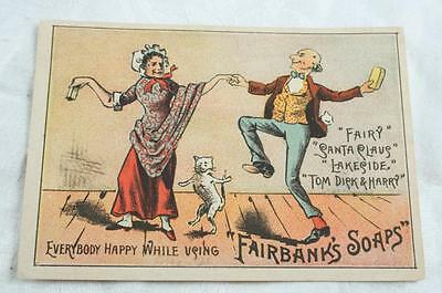 c. 1900 Fairbanks Fairy and Pic Nic Soap Trade Card SANTA CLAUS TOM DICK & HARRY