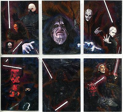 Star Wars Galaxy 7 Complete Etched Foil Puzzle Chase Card Set 1-6