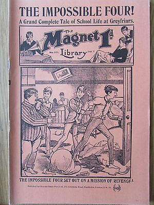 The Magnet No 271 Facsimile copy featuring Billy Bunter April 1913