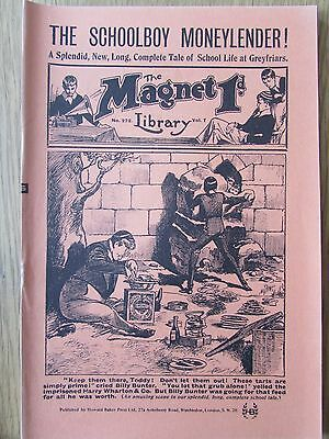 The Magnet No 272 Facsimile copy featuring Billy Bunter April 1913
