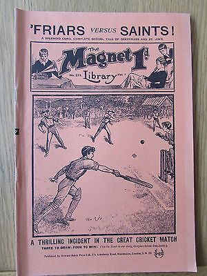 The Magnet No 273 Facsimile copy featuring Billy Bunter May 1913