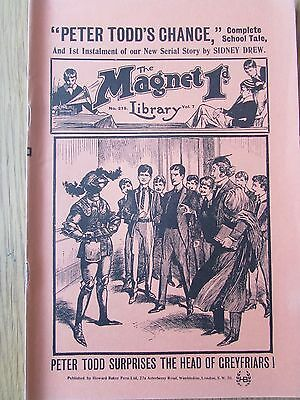 The Magnet No 275 Facsimile copy featuring Billy Bunter May 1913