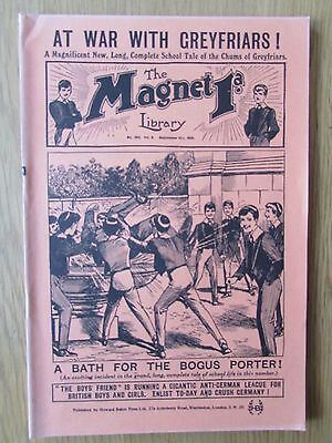 The Magnet No 395 Facsimile copy featuring Billy Bunter September 1915
