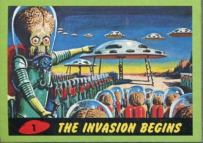 Mars Attacks Heritage Complete 55 Card Green Parallel Base Set