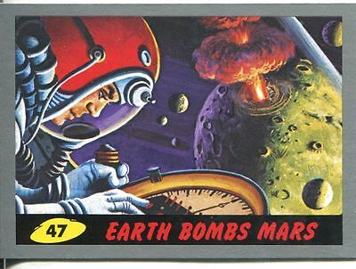 Mars Attacks Heritage Silver Parallel Base Card #47    Earth Bombs Mars