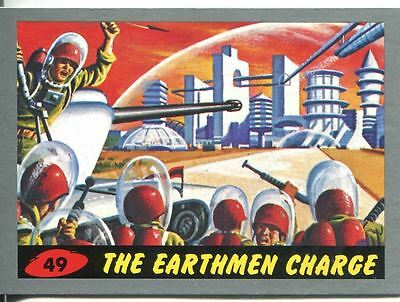 Mars Attacks Heritage Silver Parallel Base Card #49    The Earthmen Charge