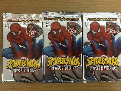 Spiderman Heroes And Villains Factory Sealed Packet x3