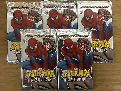 Spiderman Heroes And Villains Factory Sealed Packet x5