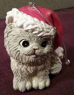 Trimmerry Christmas Ornament PERSIAN KITTY Kitten Cat Light Gray Beauty SWEET!