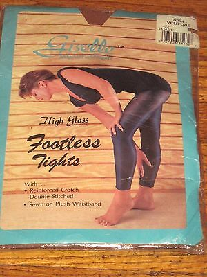 Woman's Giselle High Gloss Support Footless Tights Toast Size Medium B  New