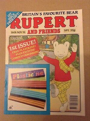 RUPERT AND FRIENDS 1ST ISSUE NO;1 16th Nov1991 Comic/magazine Marvel