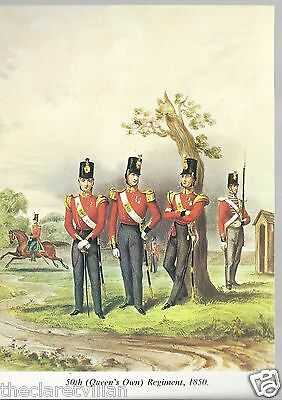 50th (Queen's Own) Regiment 1850 Unposted Postcard