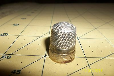 Antique Sterling Silver Simons Bros. Co. Thimble  Shield   11