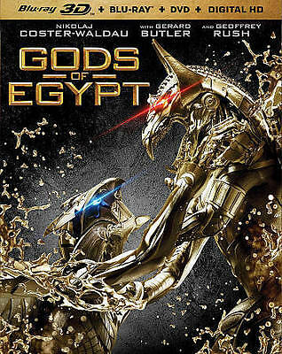 Gods of Egypt Blu-ray/DVD, 2016, 3-Disc Set, 3D