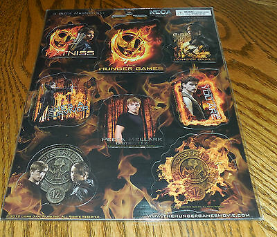 THE HUNGER GAMES NECA 8 piece Magnet Collector Set NEW IN PACKAGE Movie