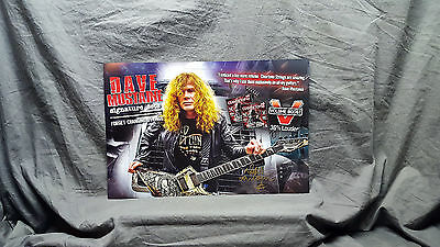 SIGNED    Megadeth *Dave Mustaine* Cleartone Promo Poster........