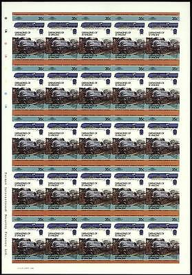 1937 LMS Stanier Coronation Class 4-6-2 Imperf/Imperforate Train Stamp Sheet