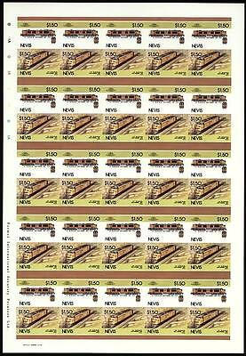 1953 Union Pacific (UP) Gas Turbine (USA) Imperf/Imperforate Train Stamp Sheet