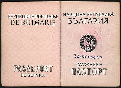 Dienstpass Bulgarien 1989 viele Visa Service Passport Bulgaria many entries VISA