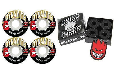 Dynamite Forever 52mm Skateboard Wheels + Spitfire Bearings + FREE POST