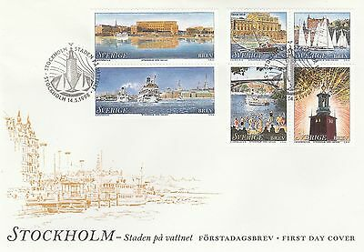 1998 Sweden Stockholm Stamps First Day Cover SG1974-79 Special PMK Ref: MT627