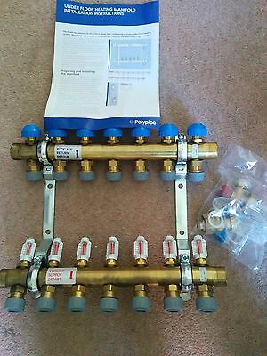 Polypipe 15mm Push-Fit Manifold - 7 Port PB12742 UFH Under Floor Heating