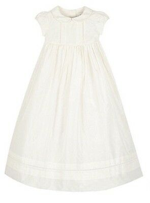 Debenhams Rocha Little Rocha 100% Silk Christening Gown - Age 6-9 Months - Bnwt