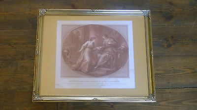 18th C Bartolozzi Stipple Engraving The King Psammetichus of Egypt in Love' 1783