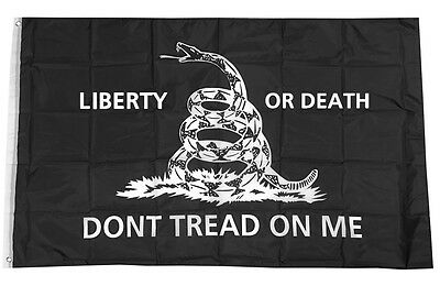 3x5 Ft LIBERTY OR DEATH DONT TREAD ON ME Flag Tea Party Gadsden kb