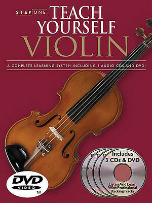 Teach Yourself Violin Beginner Lessons Learn Play Video Book 3 CD DVD Pack NEW