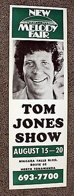 Rare Tom Jones Poster - New Melody Fair - ORIGINAL - Buffalo, NY