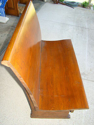 """36"""" wide antique oak church pew/ from Chicago church/ 100+ years old"""