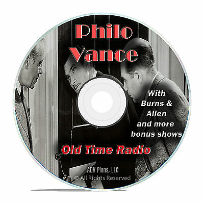 Philo Vance, 758 Old Time Radio Music Show, Detective Mystery Music OTR DVD F94