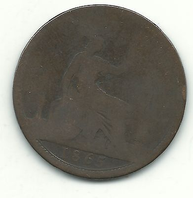 A Vintage 1865 Great Britain English Large Penny Cent-May140