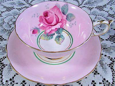 Paragon Rose & Rosebud Candy Pink Tea Cup And Saucer