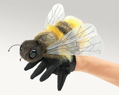 *NEW* PLUSH SOFT TOY Folkmanis 3028 Honey Bee Glove Hand Puppet