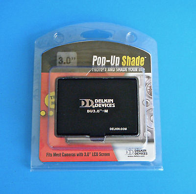 """Delkin Device Pop Up Shade 3.0"""" NEW Fits Most Cameras with 3.0"""" LCD Screen"""