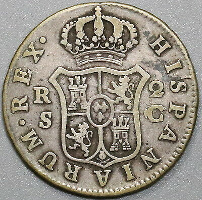 1788-S SPAIN Silver 2 Reales C/CF Assayer Charles III Seville (17040529R)