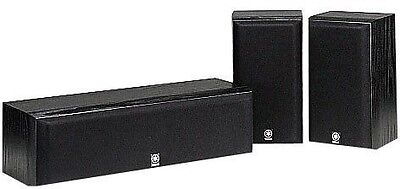 Yamaha NS-P60 Center Channel and Surround Speaker Package (Black)