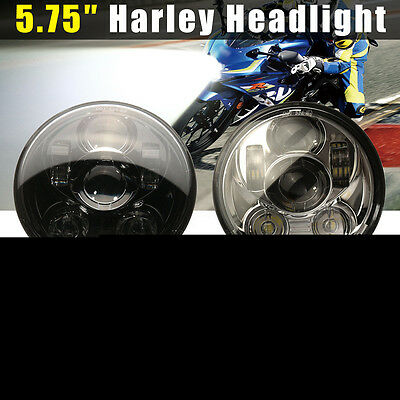 5-3/4'' Motorcycle Daymaker Projector LED Headlight Lamp Hi-Lo Beam For Harley