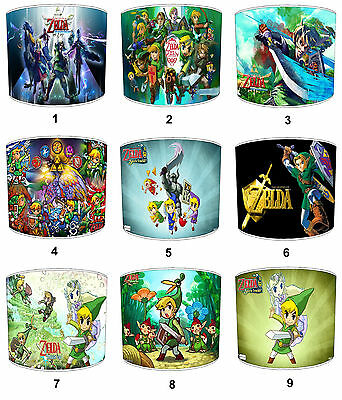 Lampshades Ideal To match Legend Of Zelda Duvets & Legend Of Zelda Wall Decals.